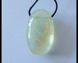 22.5Ct Natural Prehnite Gemstone Pendant Bead