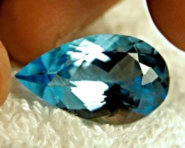 CERTIFIED - 38.789 Carat IF/VVS1 Vivid Blue South American Topaz