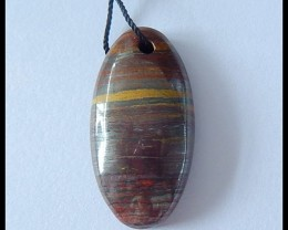 31Ct Natural Tiger Eye Pendant Bead