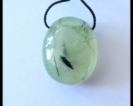 38.5Ct Natural Prehnite Gemstone Pendant Bead