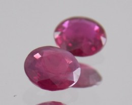 1.630ct Round Ruby Pair