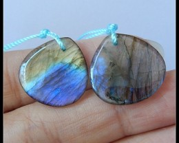 16CT HQ Labradorite Gemstone Earring Beads