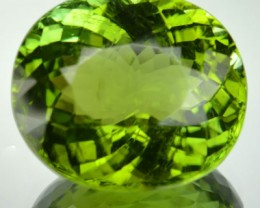Wonderful Green Tourmaline Mozambique 15.30 Cts/Oval
