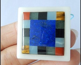 74.5Ct Natural Lapis Lazuli,Tiger Eye,Obsidian,Red Jasper,Amazonite,Apatite