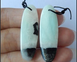 30.5CT Natural Amazonite Earring Bead