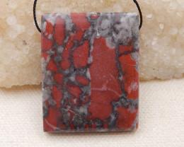 P0168 -  105.5Ct Natural Bloodstone Pendant Bead,Natural Gemstone