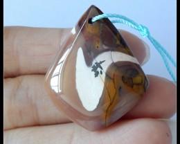 45.5Ct Natural Mookaite Jasper Pendant Bead