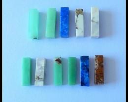 11 PCS Natural Howlite,Chrysoprase,Lapis Lazuli Gemstone Cabochons,35.5Cts