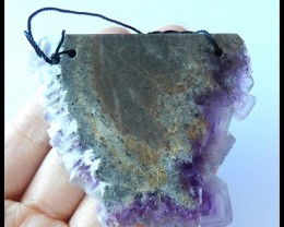 295.5Ct Fluorite Gemstone Pendant Bead ,Gemstone Pendant Bead, jewelry Maki