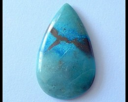 24Ct Natural Chrysocolla Gemstone Cabochon