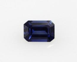 0.43cts Natural Australian Blue Sapphire Emerald Cut