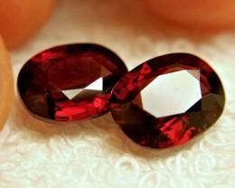 9.20 Tcw. Matching Rhodolite Garnets - Gorgeous