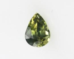 0.61cts Natural Australian Parti Sapphire Pear Cut