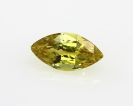 0.68cts Natural Australian Yellow Sapphire Marquise Cut
