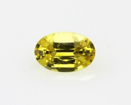 0.61cts Natural Australian Yellow Sapphire Oval Cut