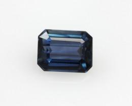 0.85cts Natural Australian Blue Sapphire Emerald Cut