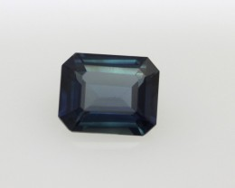 0.81cts Natural Australian Blue Sapphire Emerald Cut