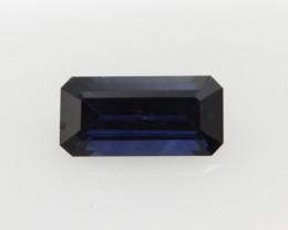 1.01cts Natural Australian Blue Sapphire Emerald Cut