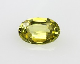 0.60cts Natural Australian Yellow Sapphire Oval Cut
