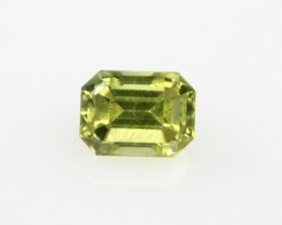 0.64cts Natural Australian Yellow Sapphire Yellow Cut