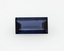 0.69cts Natural Australian Blue Sapphire Baguette Cut