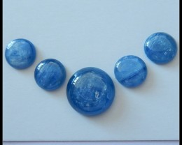 5 PCS New Arrival Natural Blue Kyanite Gemstone Cabochons,28.5ct