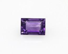 0.71cts Natural Purple Amethyst Baguette Shape
