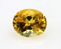 4.92cts Golden Yellow Citrine Oval Shape