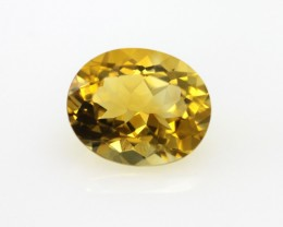 3.04cts Golden Yellow Citrine Oval Shape