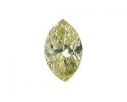 0.48cts Natural Fancy Intense Yellow Marquise Shape Diamond
