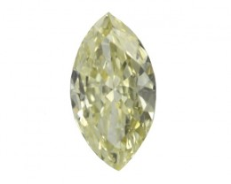 0.40cts Natural Fancy Yellow Marquise Shape Diamond
