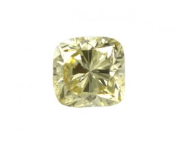 0.59cts Natural Fancy Intense Yellow Cushion Shape Diamond