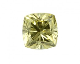0.57cts Natural Fancy Intense Yellow  Cushion Shape Diamond