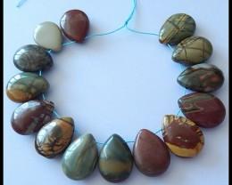 P0691 - 200CT Natural Multi Color Picasso Jasper Beads Strand
