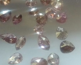 NATURALPURPLEPINK DIAMOND-19PCS-2.70CTWLOT