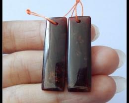 Lovely 37Ct Natural Garnet Earring Beads ,Healing Stone ,Wholesale  B100