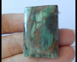 Natural Green opal Gemstone Pendant Bead