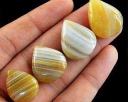 Genuine 104.50 Cts Pear Shaped Striped Agate Lot