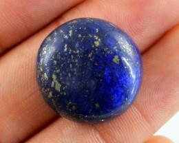 Genuine 43.65 Cts Lapis Lazuli Round Shaped Cab