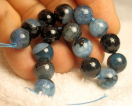 187.0 Tcw. Faceted, Dyed Agate Druzy Strand - 7.25 inches