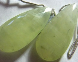 PREHNITE BEADS DRILLED PAIR 45 CTS NP-1963