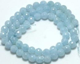 AQUAMARINE FACETED BEADS 111 CTS NP-170