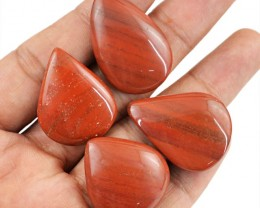 Genuine 103.95 Cts Pear Shaped Re Jasper Lot