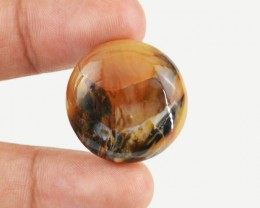 Genuine 26.15 Cts Round Shaped Agate Cab