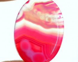 Genuine 172.50 Cts Oval Shaped Pink Onyx Cab