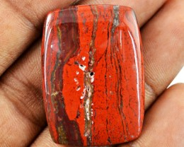 Genuine 39.45 Cts Untreated Red Jasper Cab