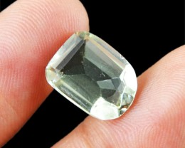 Genuine 5.00 Cts Untreated Faceted Prasiolite Prasiolite Gemstone