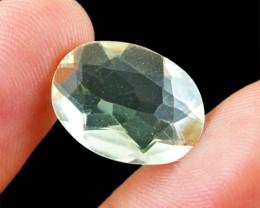 Genuine 8.50 Cts Prasiolite (Prasiolite)  Faceted Cab