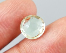 Genuine 1.90 Cts Round Faceted Prasiolite (Prasiolite) Gemstone