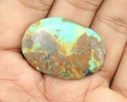Genuine 30.00 Cts Oval Shaped Turquoise Cab